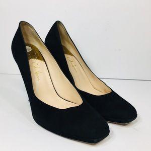 Cole Haan Carma Black Suede Leather Stiletto 9.5 A